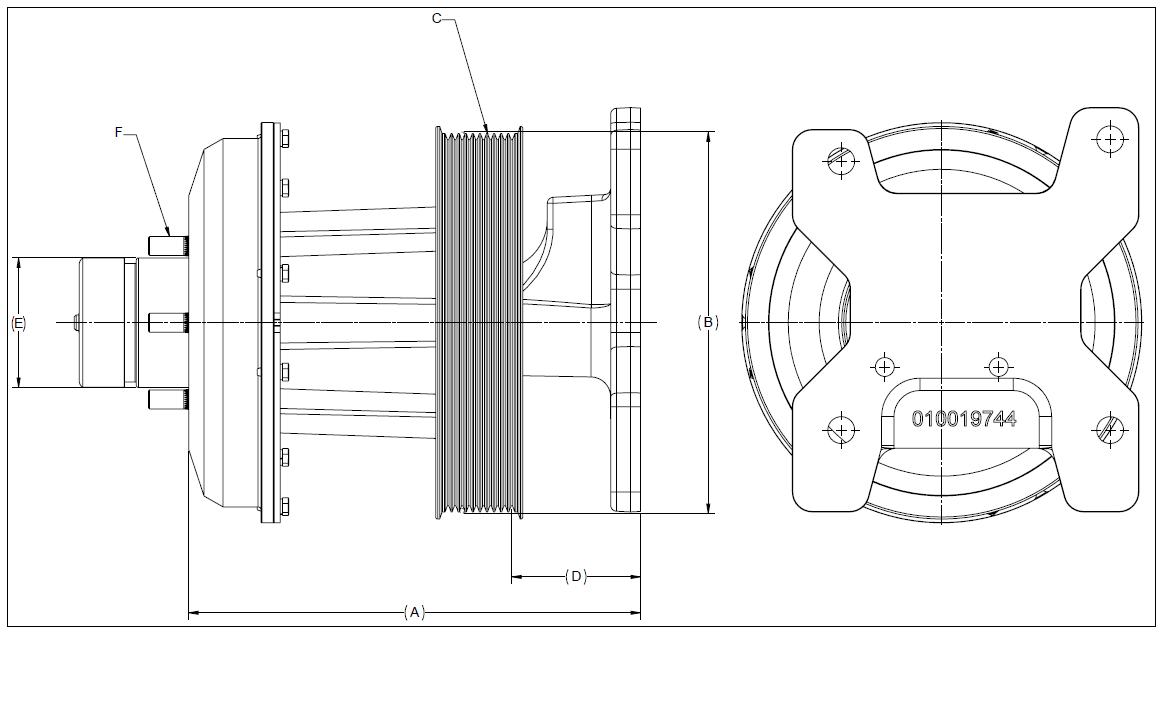 010019659 K26 Rear Air Fan Drive Assembly
