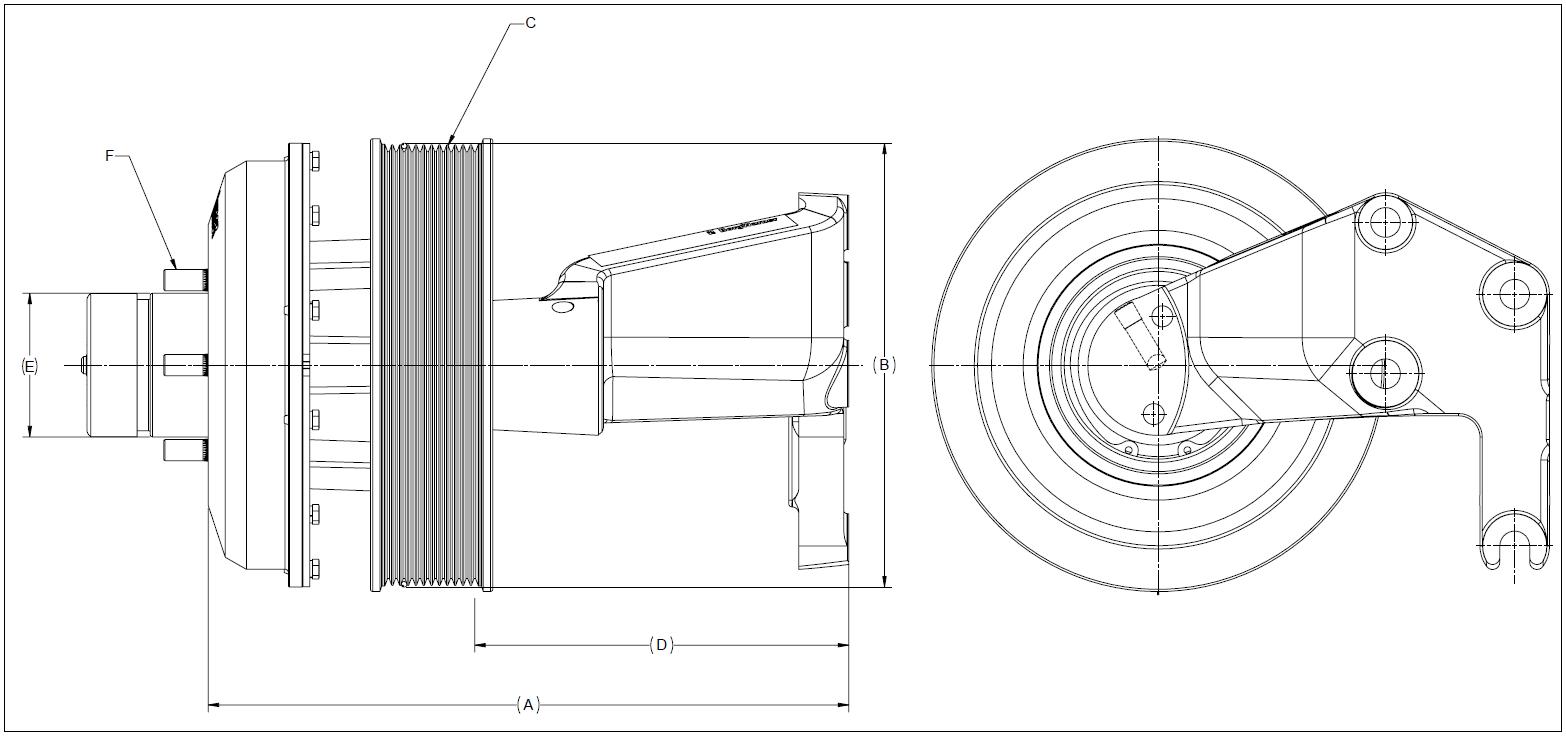 010019696 K26 Rear Air Fan Drive Assembly