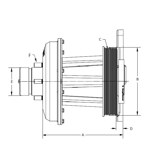 010019857 K26 Rear Air Fan Drive Assembly