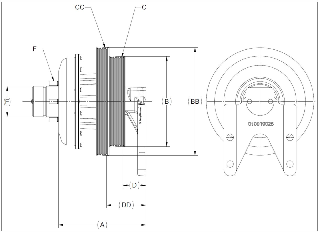 010020034 K26 Rear Air Fan Drive Assembly