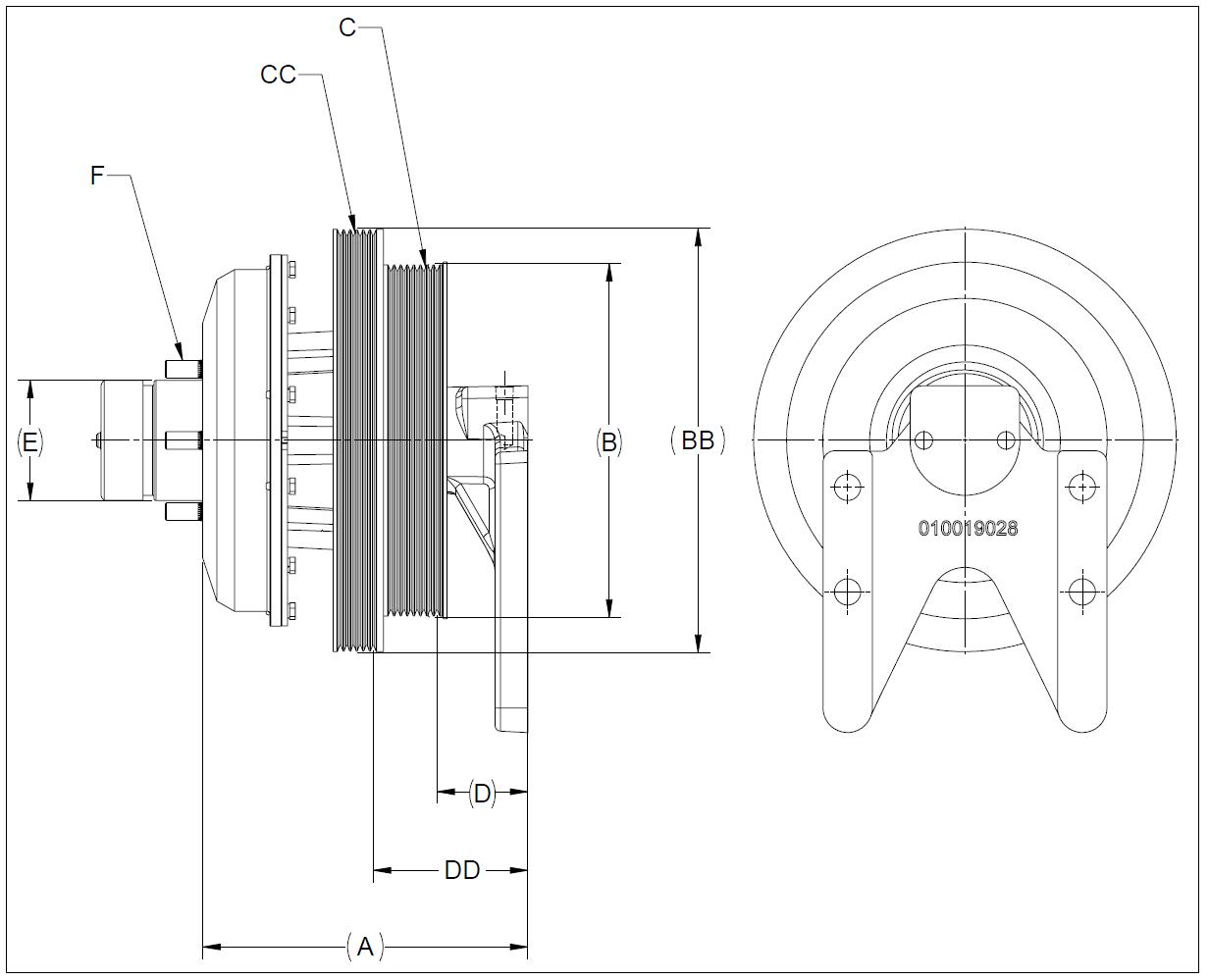 010020084 K26 Rear Air Fan Drive Assembly