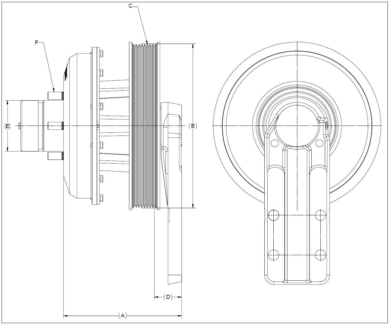 010020248 K26 Rear Air Fan Drive Assembly