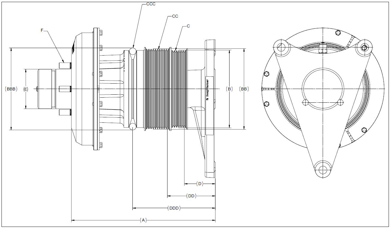 010020399 K26 Rear Air Fan Drive Assembly