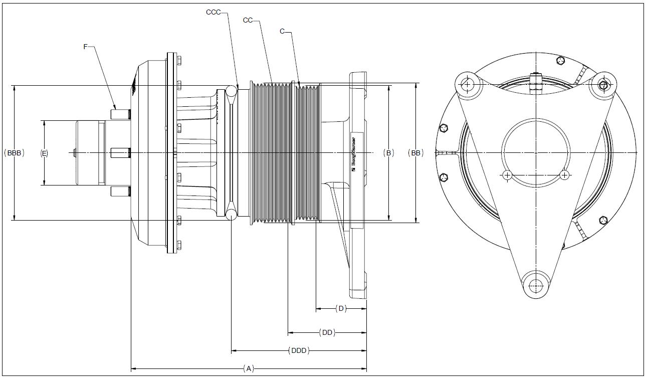 010020407 K26 Rear Air Fan Drive Assembly