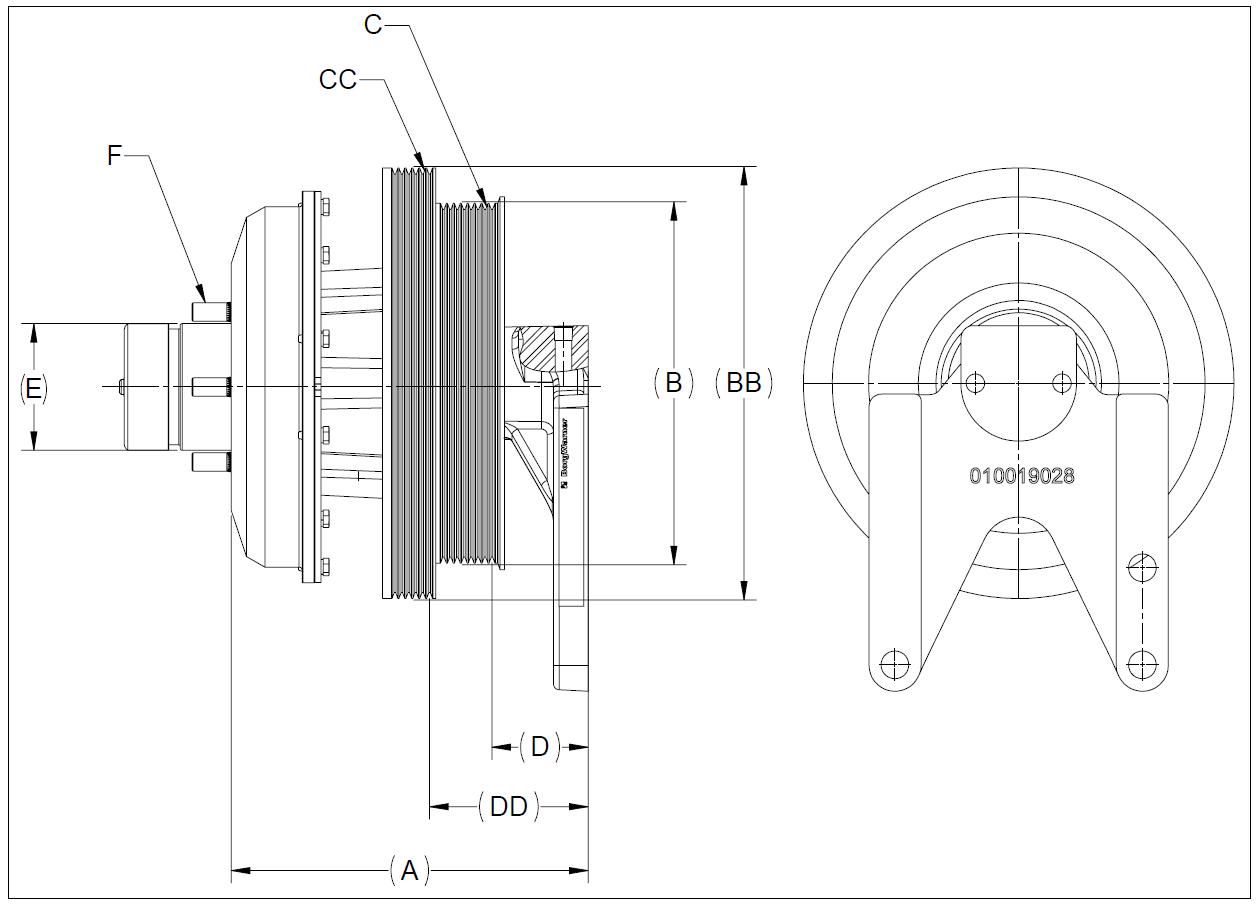 010020414 K26 Rear Air Fan Drive Assembly