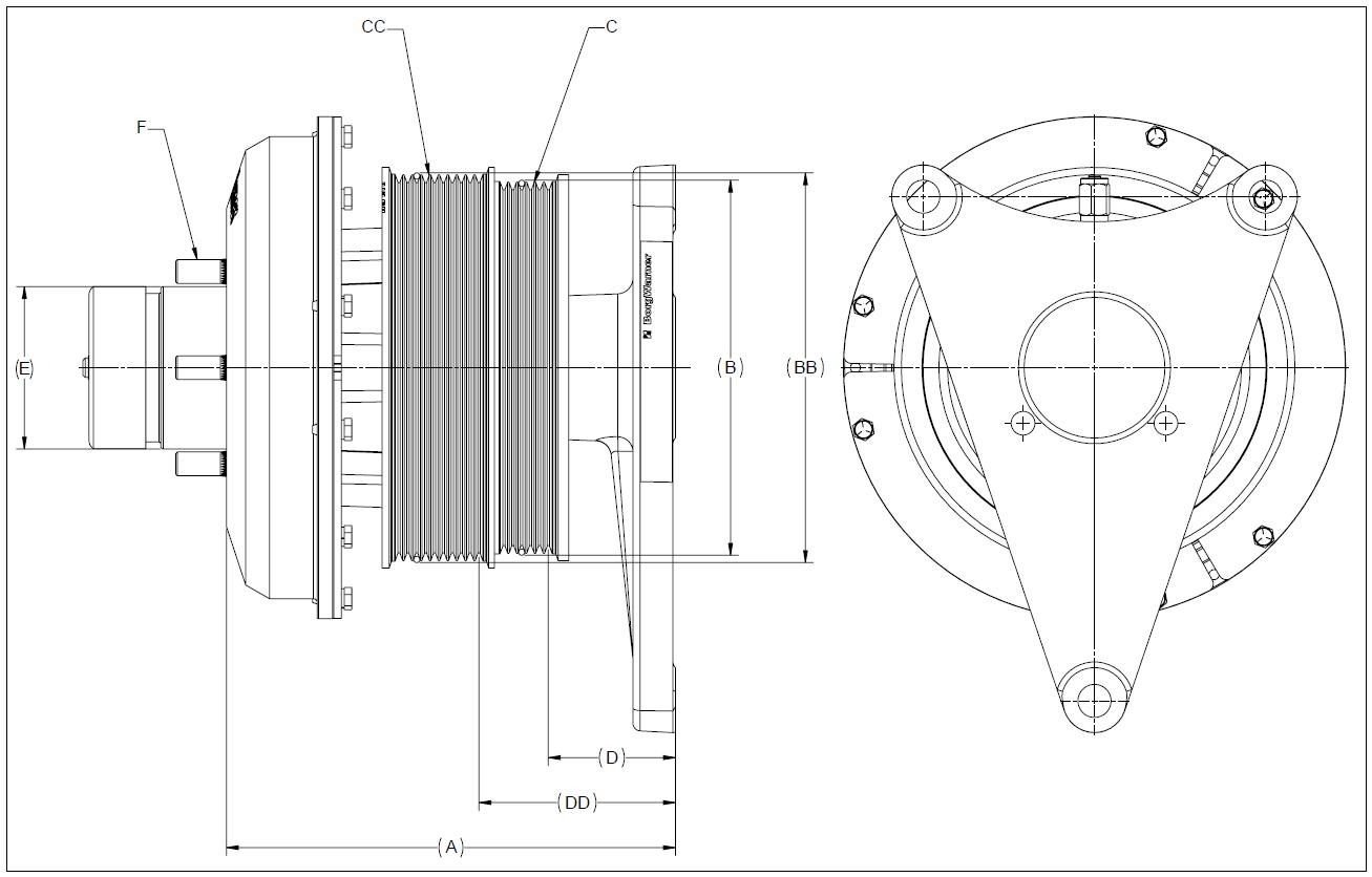010020458 K26 Rear Air Fan Drive Assembly