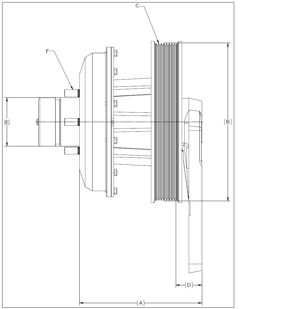 010020470 K26 Rear Air Fan Drive Assembly
