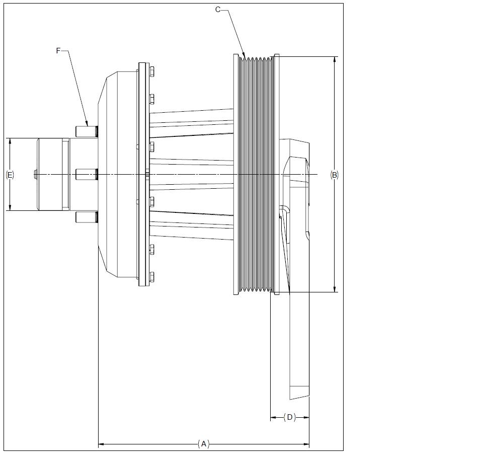 010020471 K26 Rear Air Fan Drive Assembly