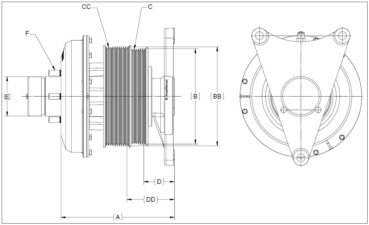 010020608 K26 Rear Air Fan Drive Assembly
