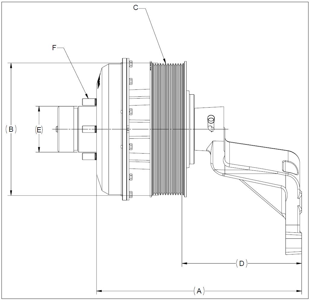 010020614 K26 Rear Air Fan Drive Assembly