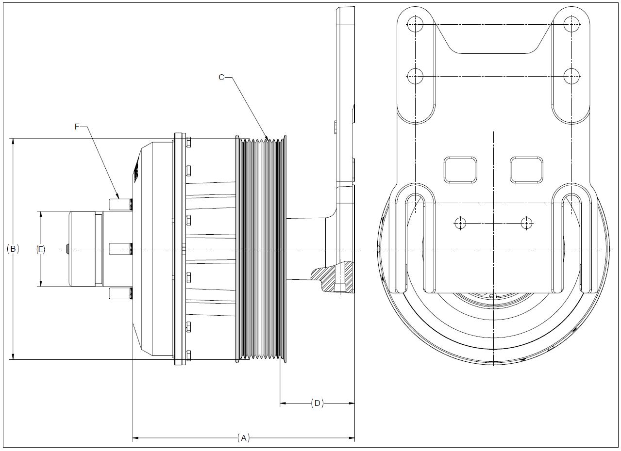 010020642 K26 Rear Air Fan Drive Assembly