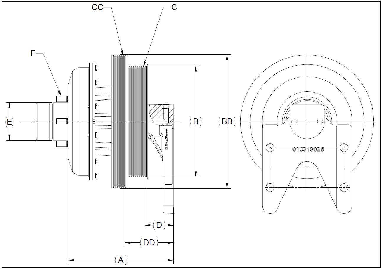 010020699 K26 Rear Air Fan Drive Assembly