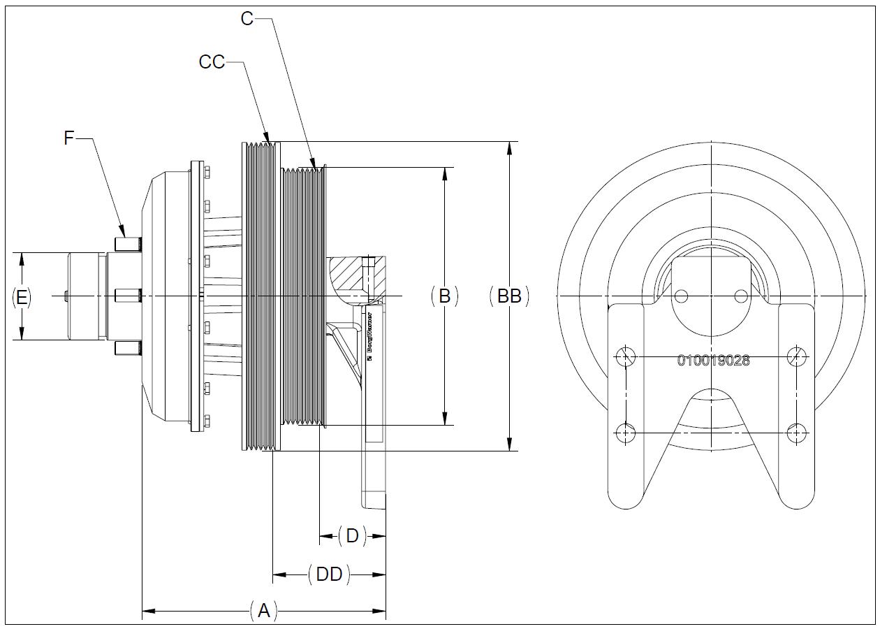 010020700 K26 Rear Air Fan Drive Assembly