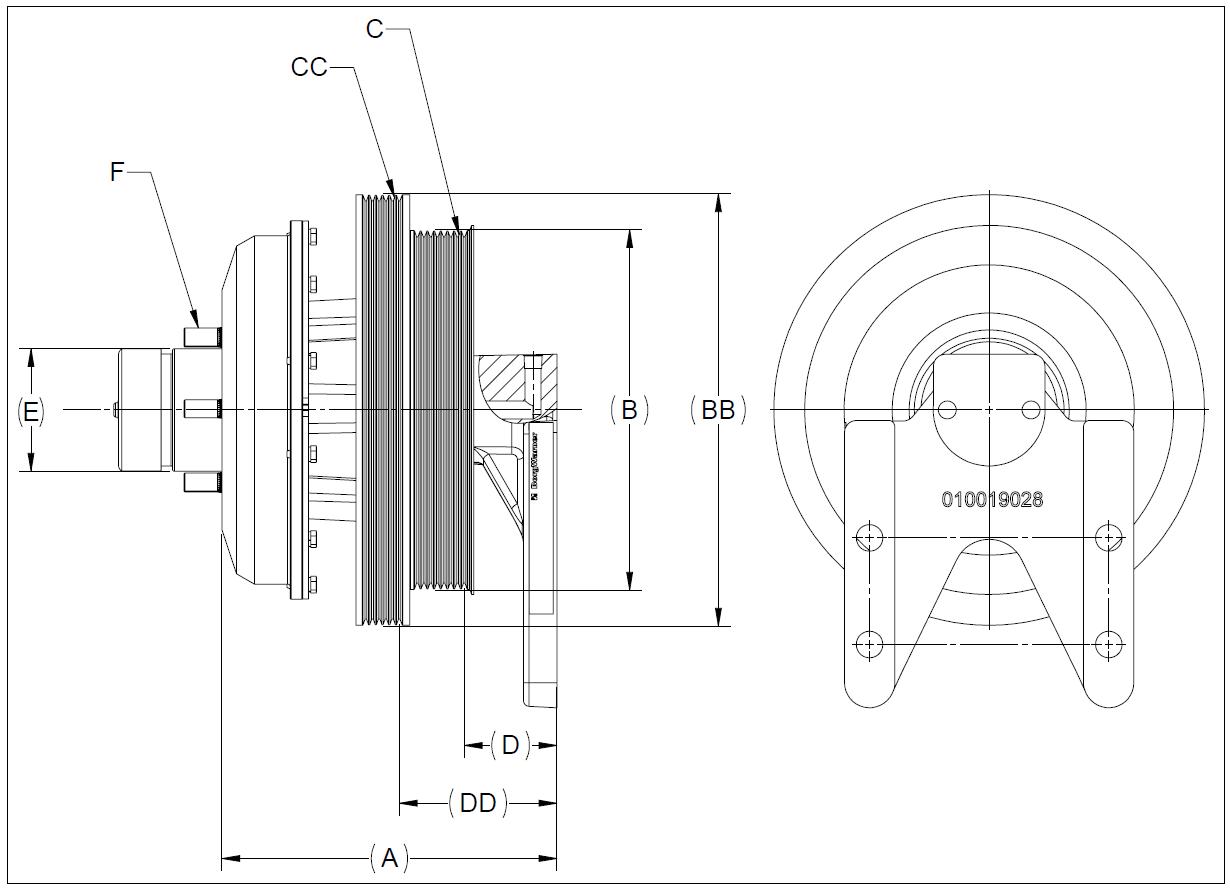010020701 K26 Rear Air Fan Drive Assembly