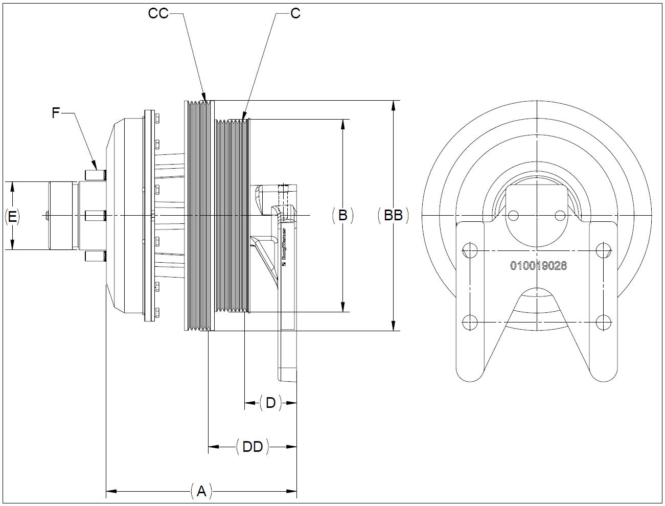 010020714 K26 Rear Air Fan Drive Assembly