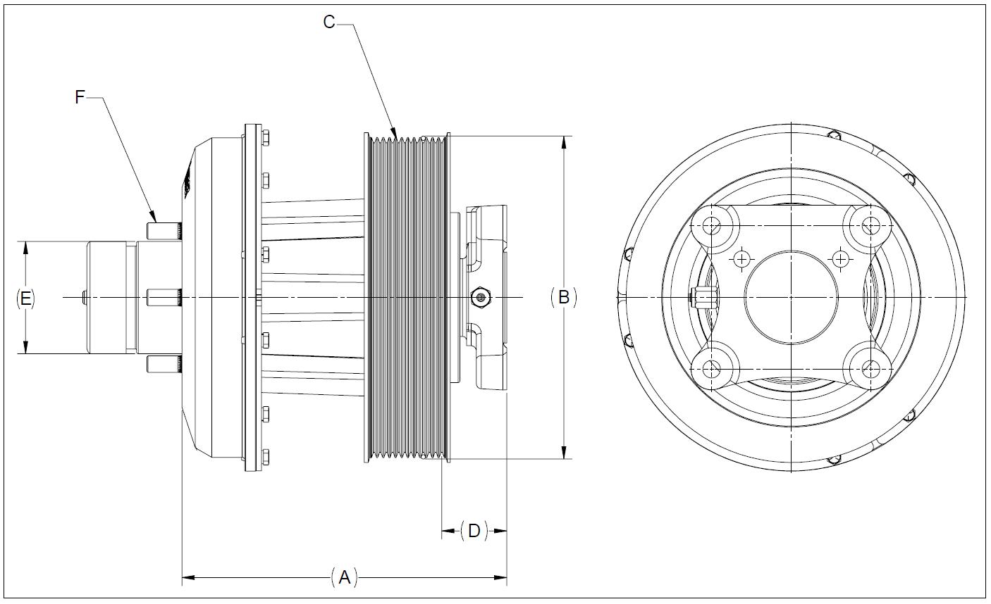 010021022 K26 Rear Air Fan Drive Assembly