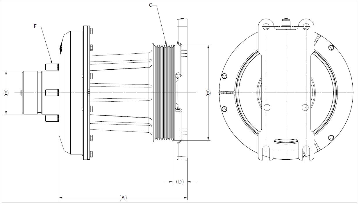 010021031 K26 Rear Air Fan Drive Assembly