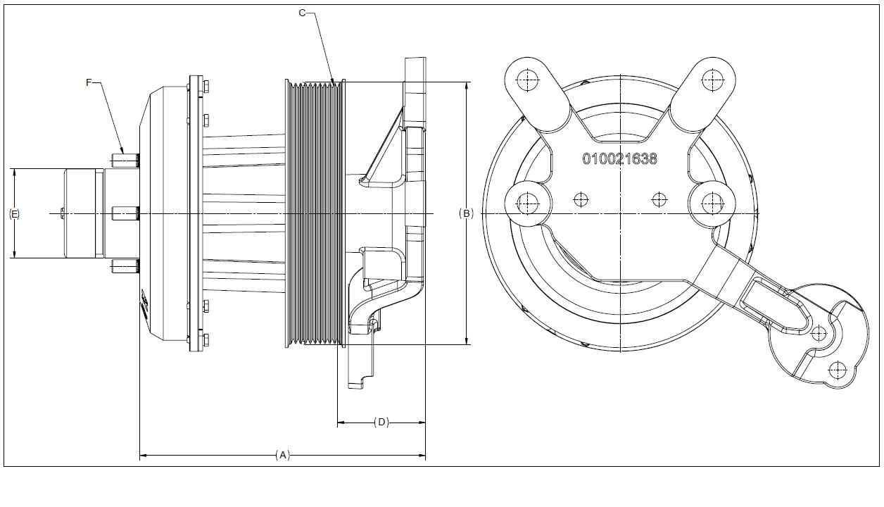 010021620 K26 Rear Air Fan Drive Assembly