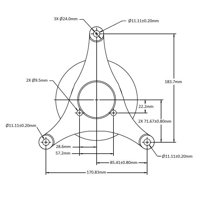 010021800 Engine Cooling Fan Hub