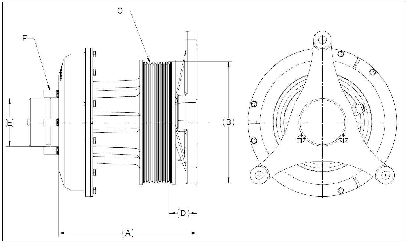 010021880 K30 Rear Air Fan Drive Assembly