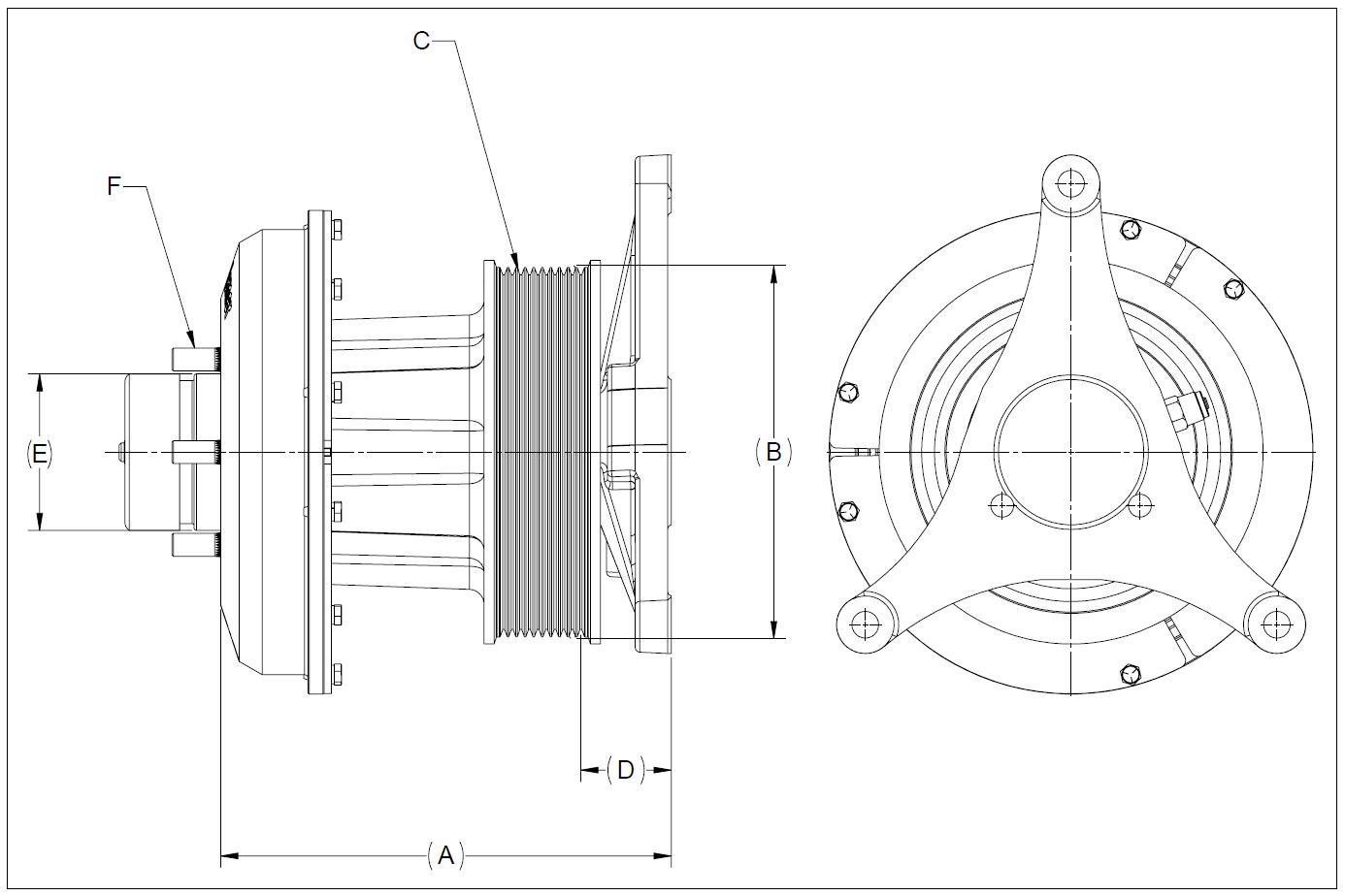 010021882 K30 Rear Air Fan Drive Assembly