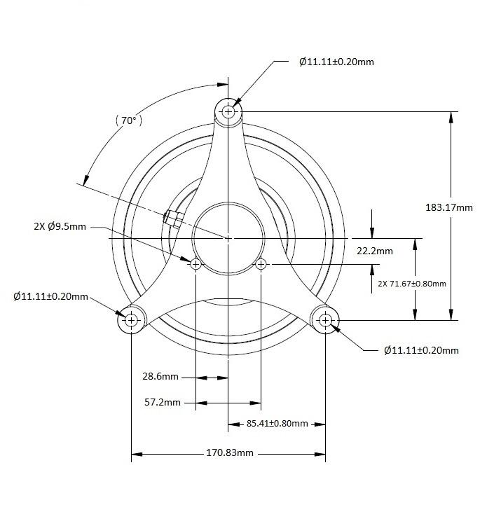 010021933 Engine Cooling Fan Hub