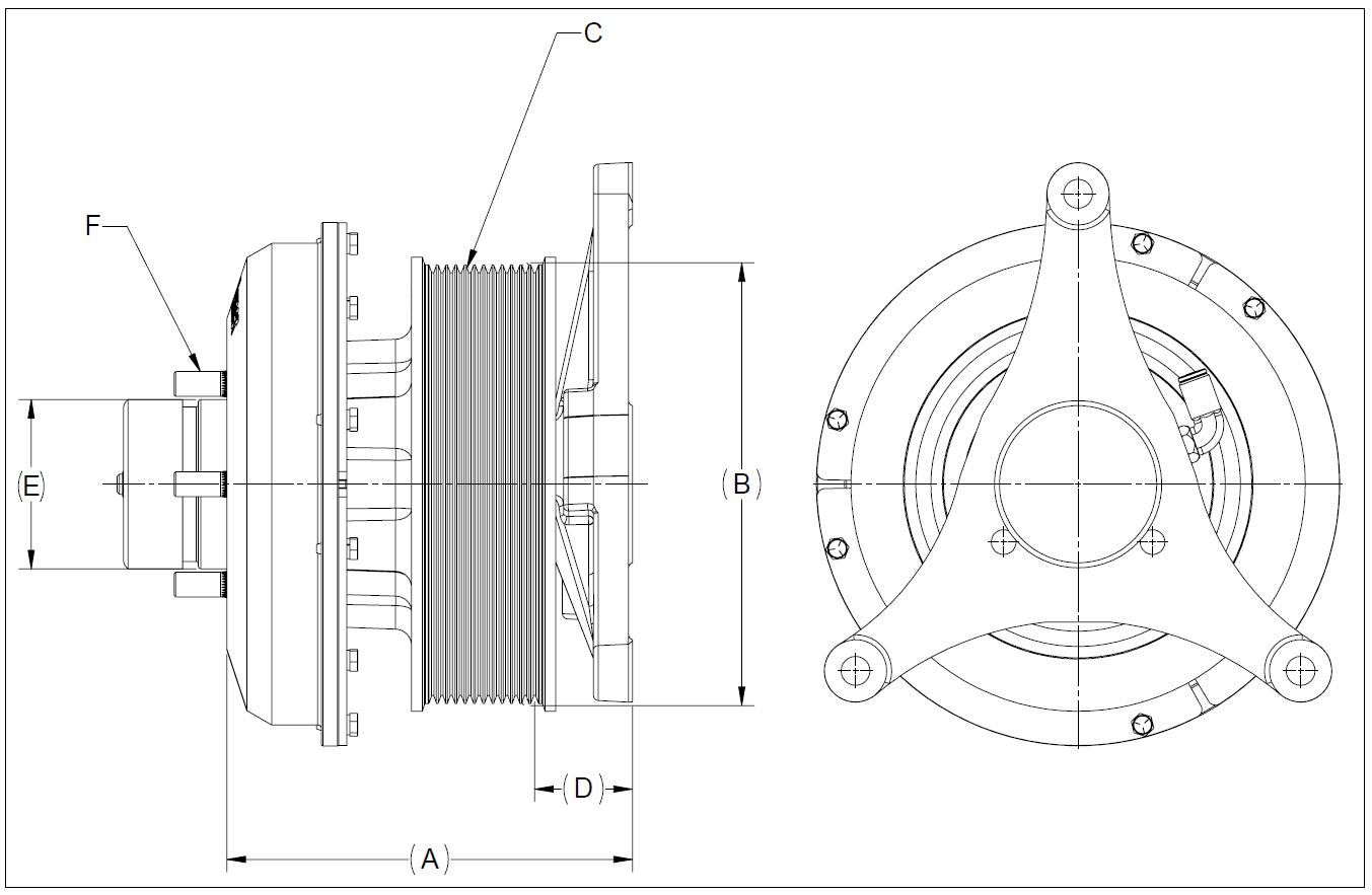 010021944 K30 Rear Air Fan Drive Assembly