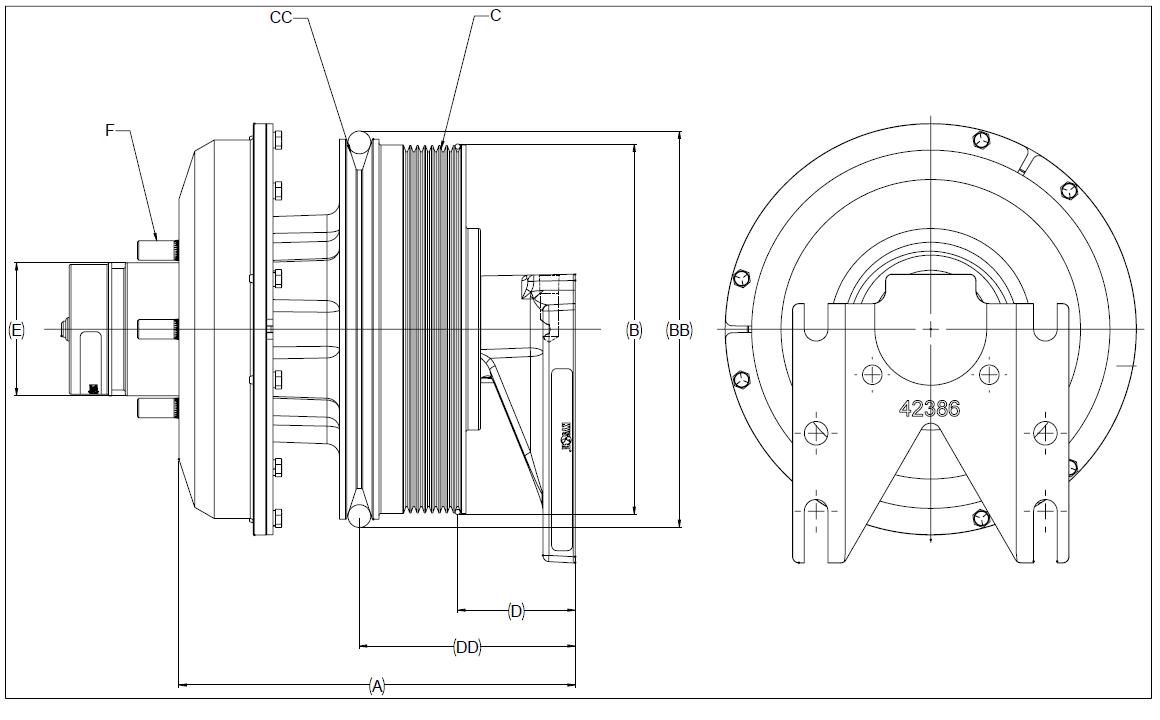 010022031 K26 Rear Air Fan Drive Assembly