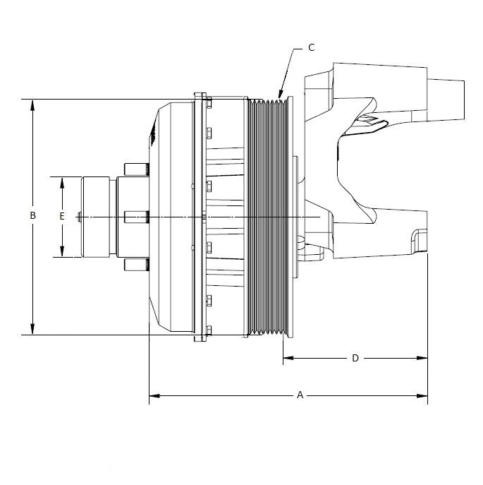 010022083 K26 Rear Air Fan Drive Assembly