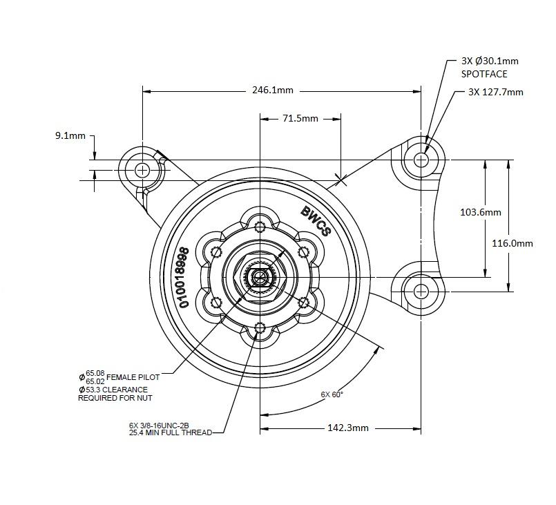 010022084 Engine Cooling Fan Hub