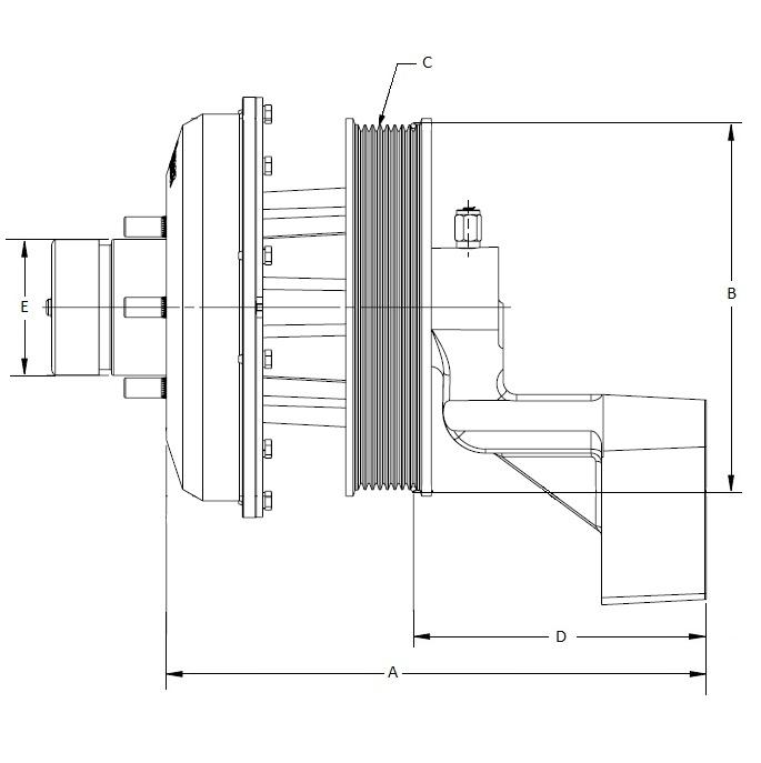 010022291 K26 Rear Air Fan Drive Assembly