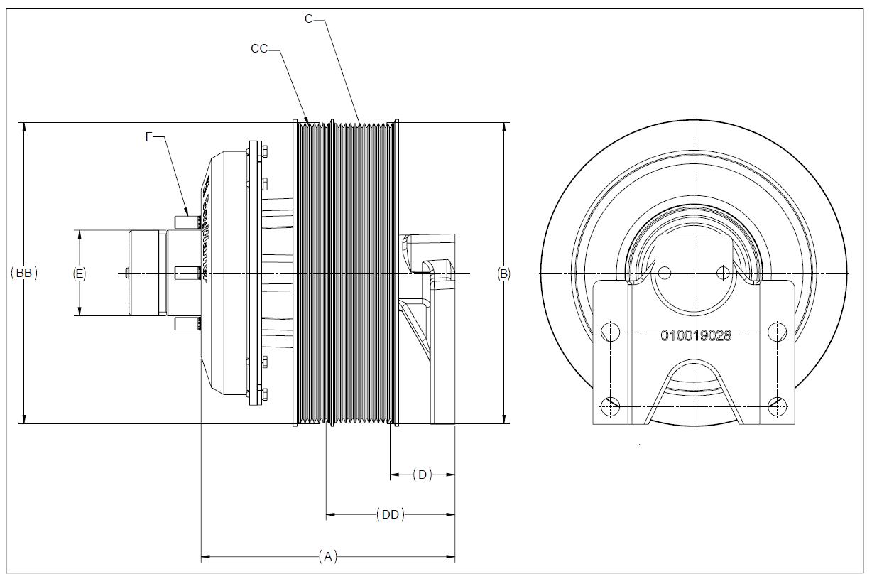 010022766 K26 Rear Air Fan Drive Assembly