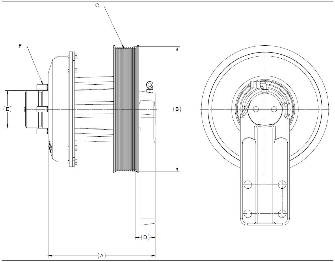 010022857 K30 Rear Air Fan Drive Assembly
