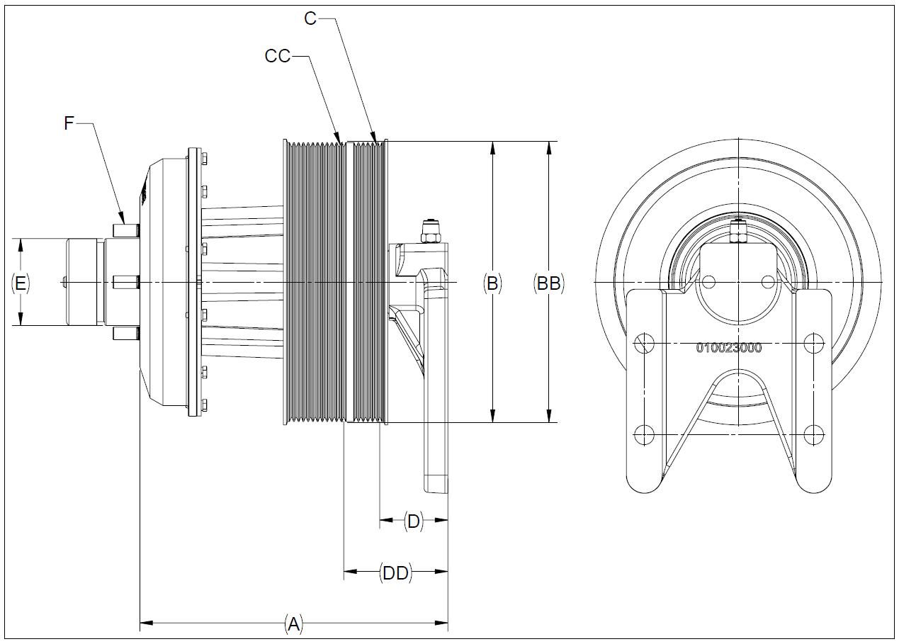 010022921 K26 Rear Air Fan Drive Assembly