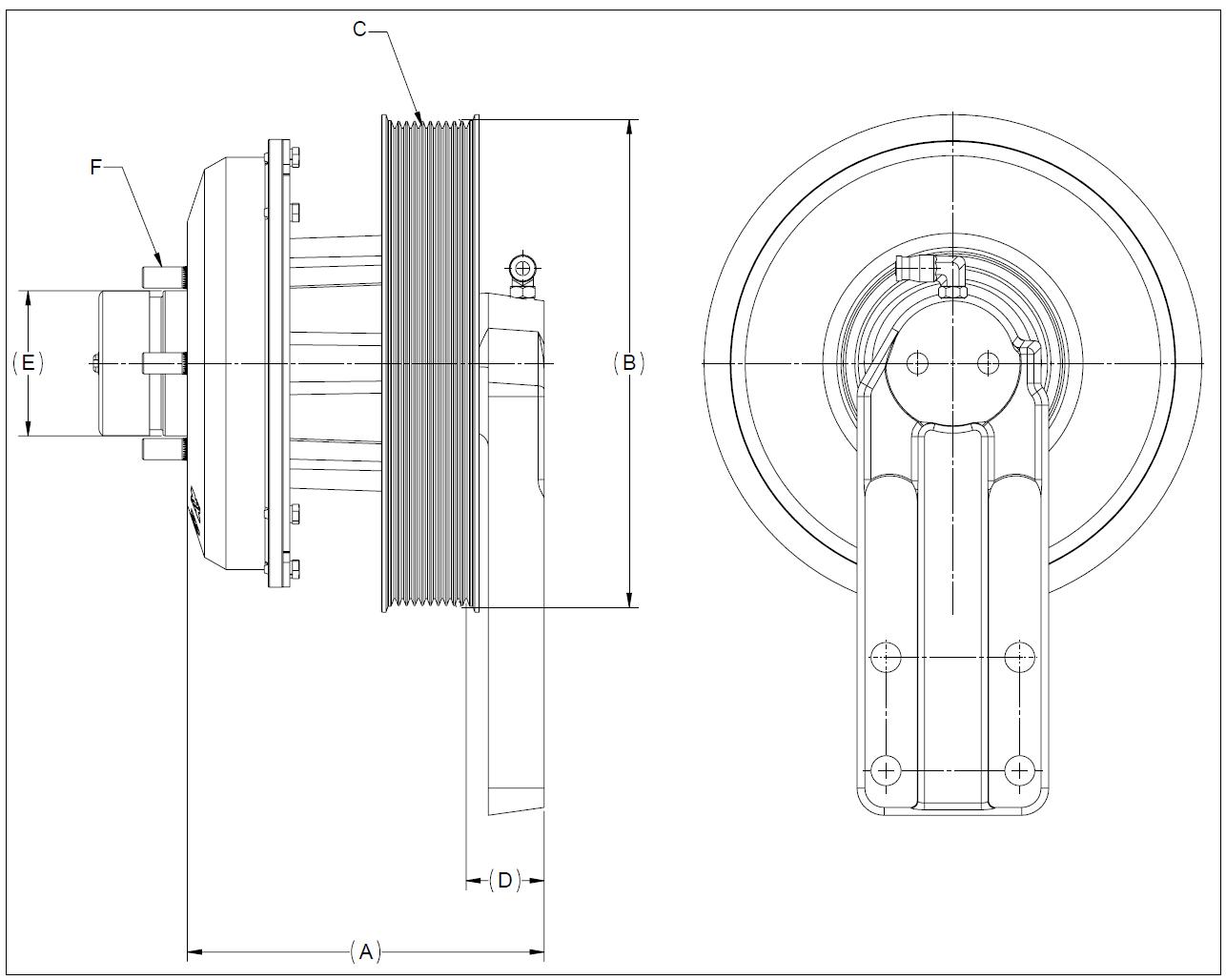 010022956 K30 Rear Air Fan Drive Assembly