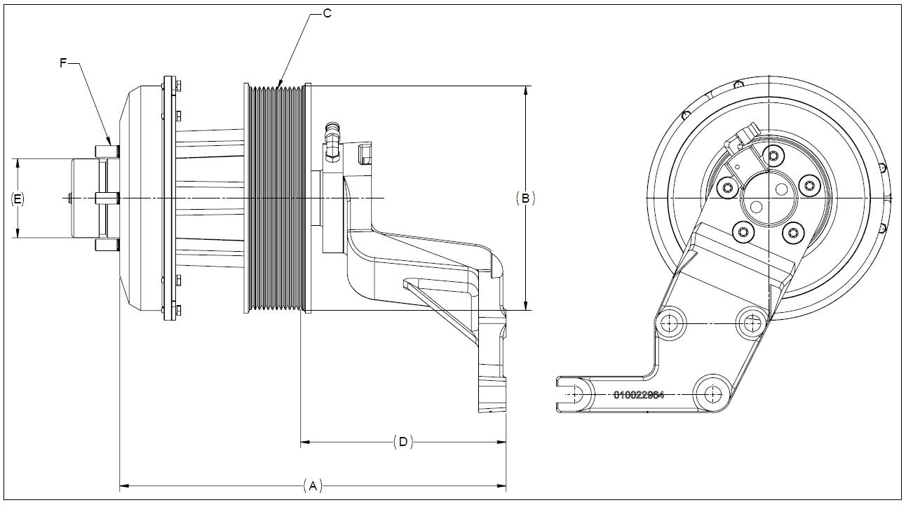 010022968 K30 Rear Air Fan Drive Assembly