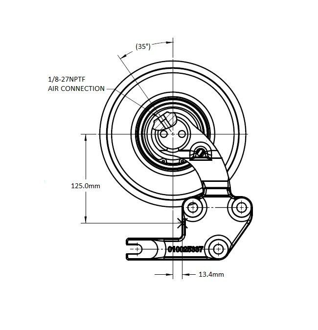 010022977 K30 Rear Air Fan Drive Assembly