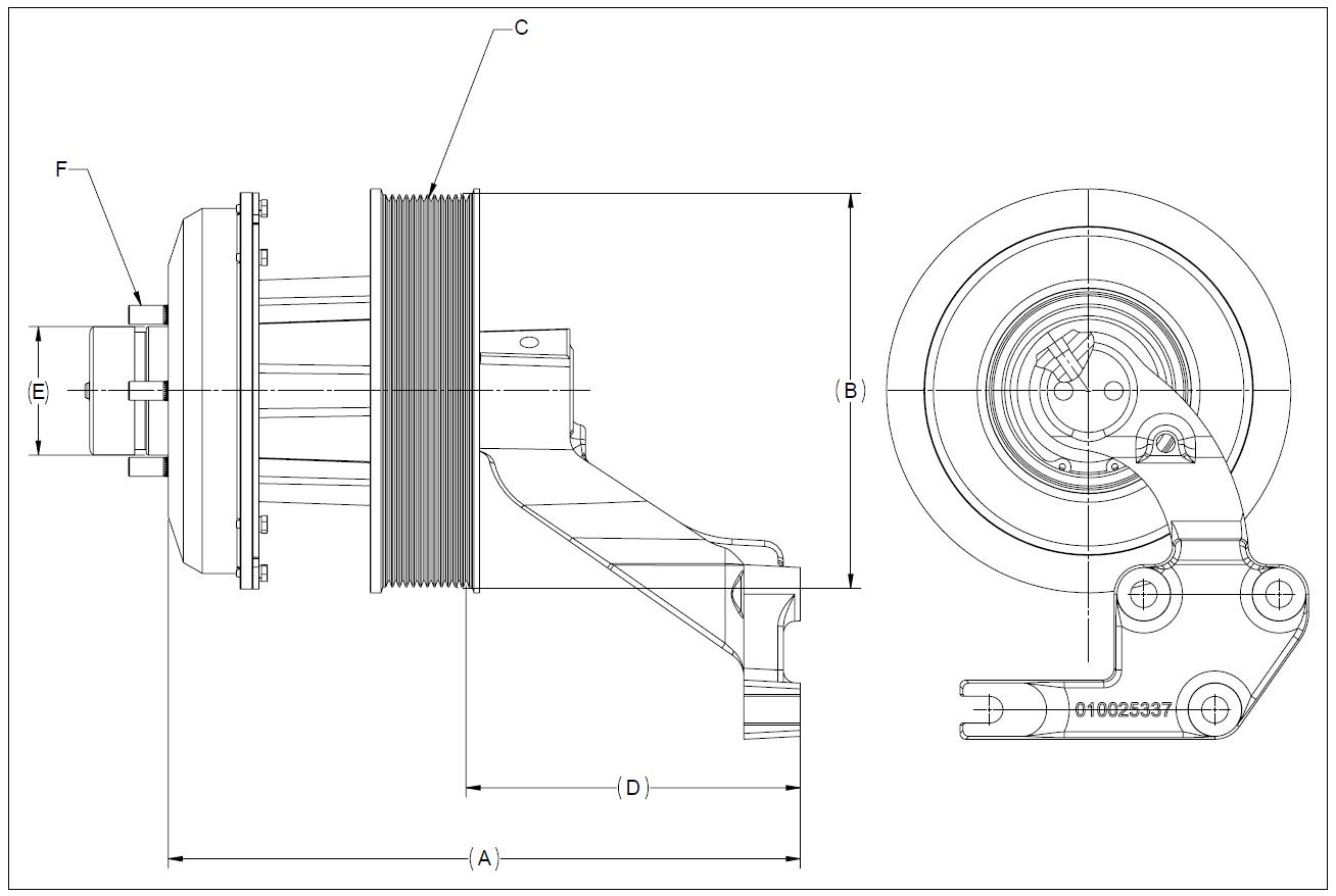 010032446 K30 Rear Air Fan Drive Assembly