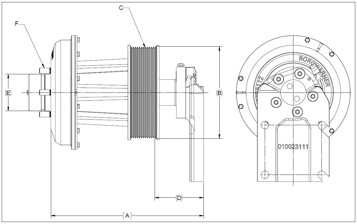 010023084 K30 Rear Air Fan Drive Assembly