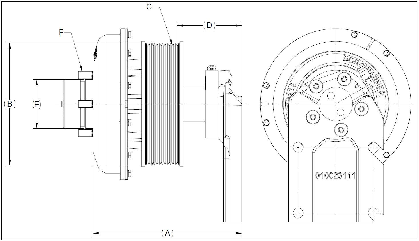 010023085 K30 Rear Air Fan Drive Assembly