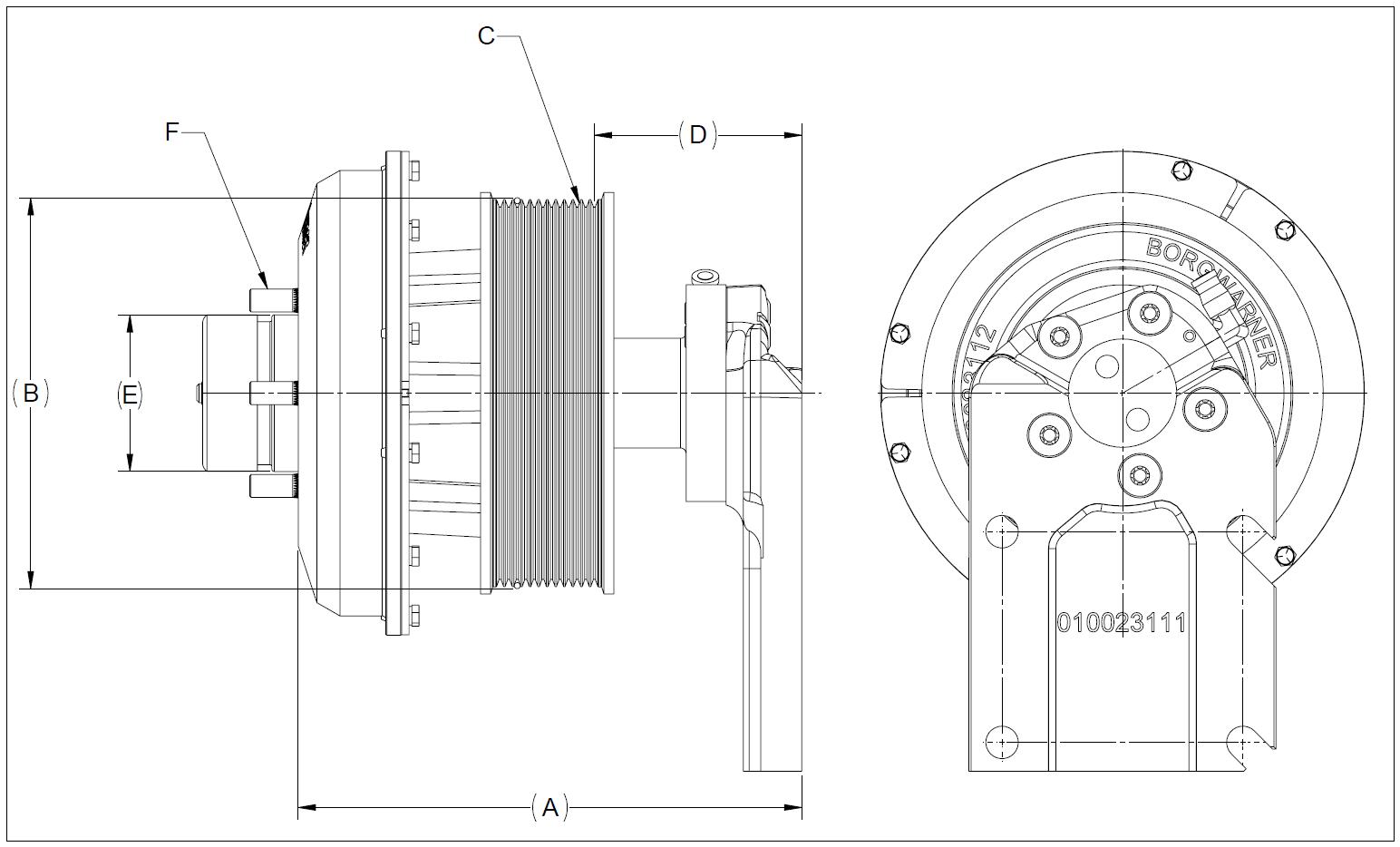 010023088 K30 Rear Air Fan Drive Assembly