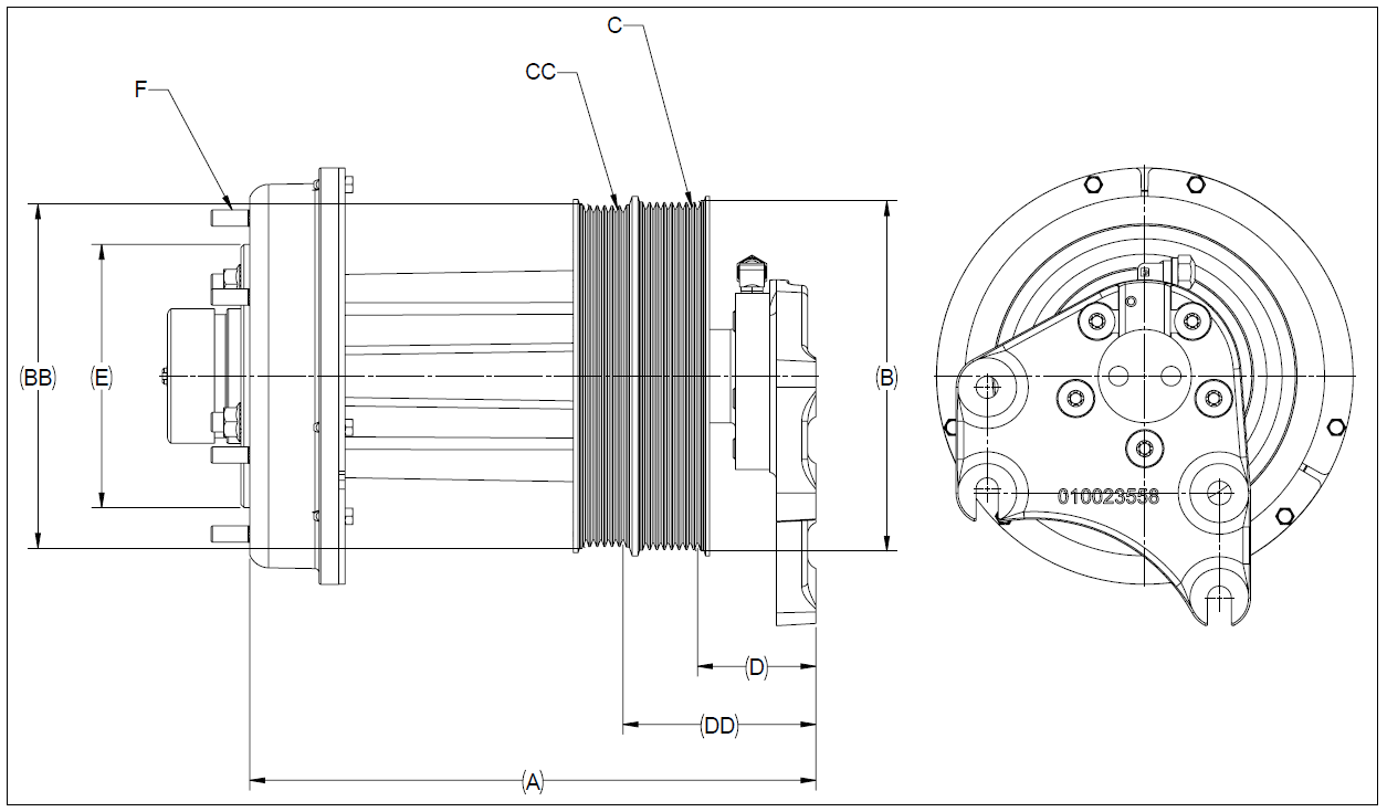 010023231 K32A Rear Air Fan Drive Assembly