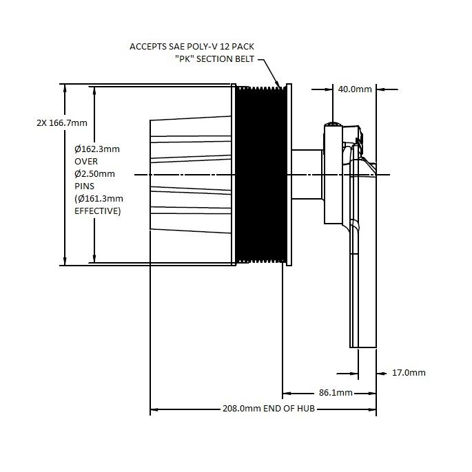 010023292 Engine Cooling Fan Hub