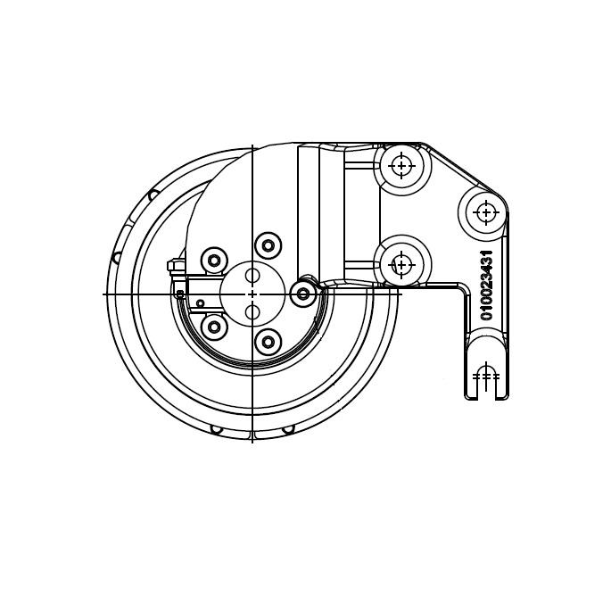 010023438 K32A Rear Air Fan Drive Assembly