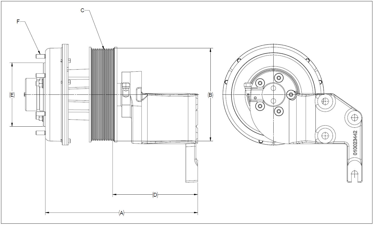 010023440 K32A Rear Air Fan Drive Assembly