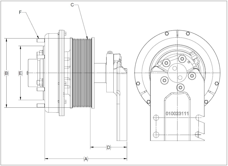 010023463 K30A Rear Air Fan Drive Assembly