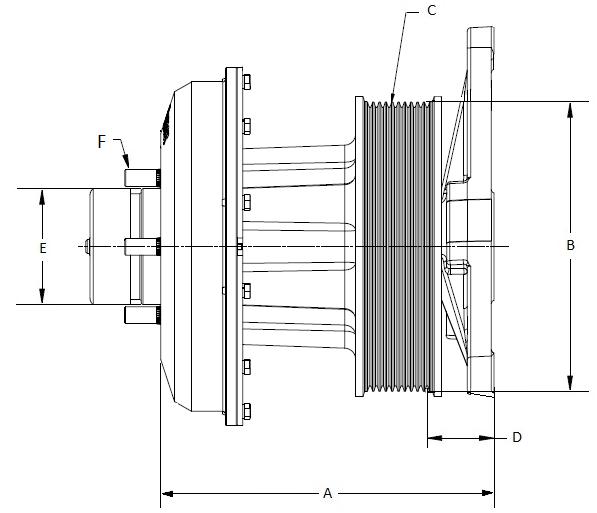 010023690 K32 Rear Air Fan Drive Assembly