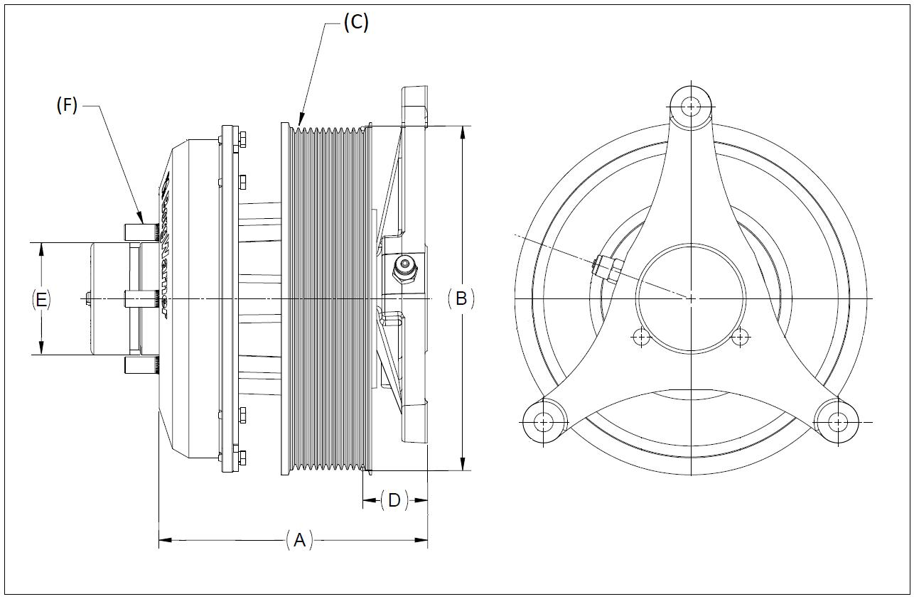 010023692 K32 Rear Air Fan Drive Assembly