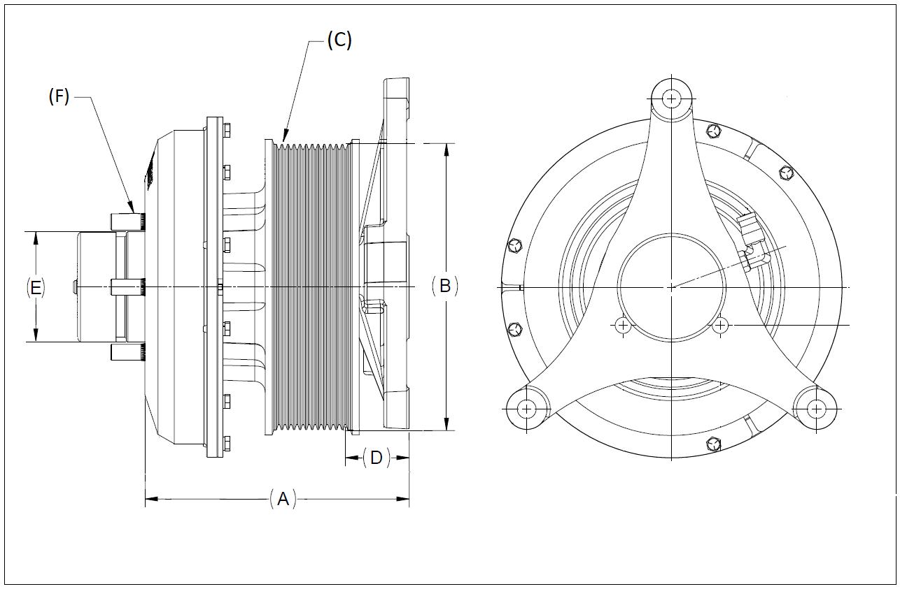010023695 K32 Rear Air Fan Drive Assembly