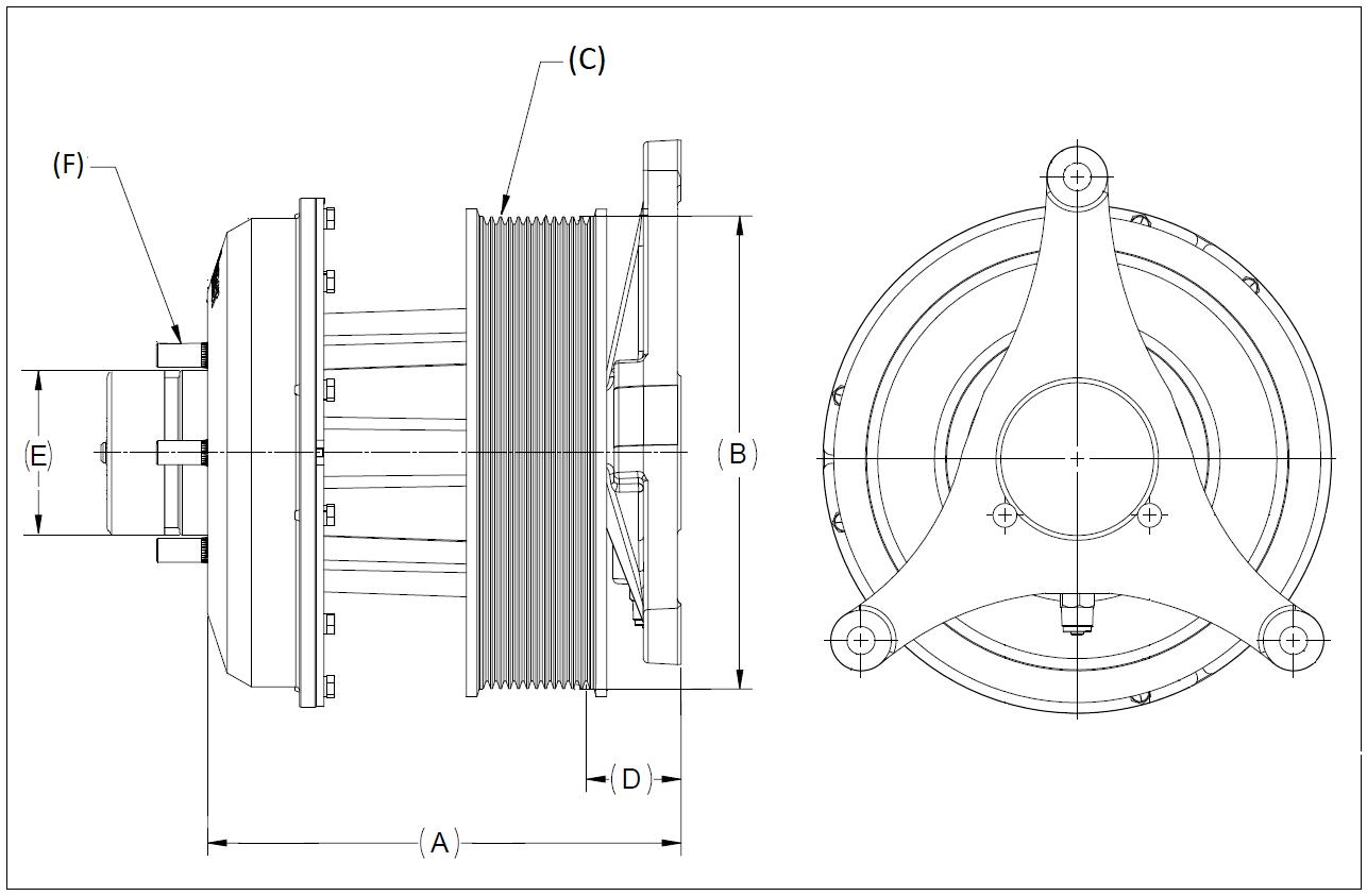 010023697 K32 Rear Air Fan Drive Assembly